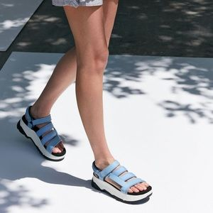 Teva Zamora platform sandals in silver